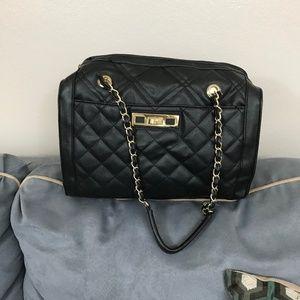 Apt 9 Black and Gold Quilt Shoulder Bag New No TAG